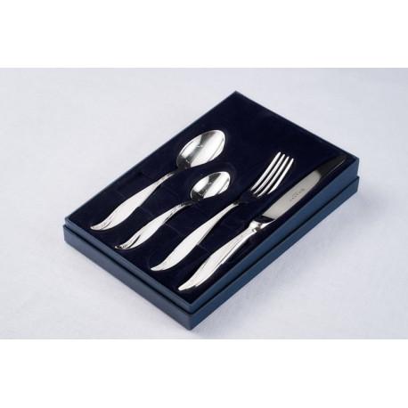 Zestaw srebrnych sztućców obiadowych