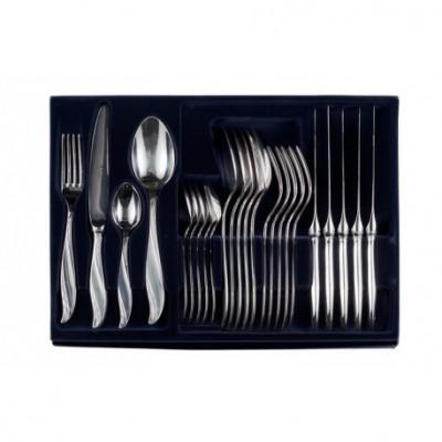 Zestaw srebrnych sztućców obiadowych – 24 szt.