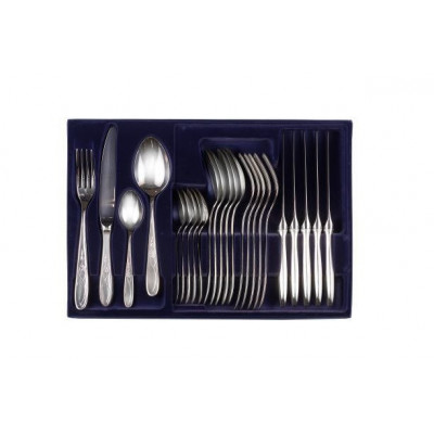 Zestaw srebrnych sztućców obiadowych - 24 szt.